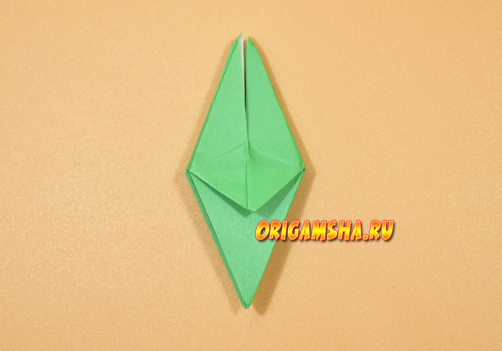 Базовые формы оригами лягушка