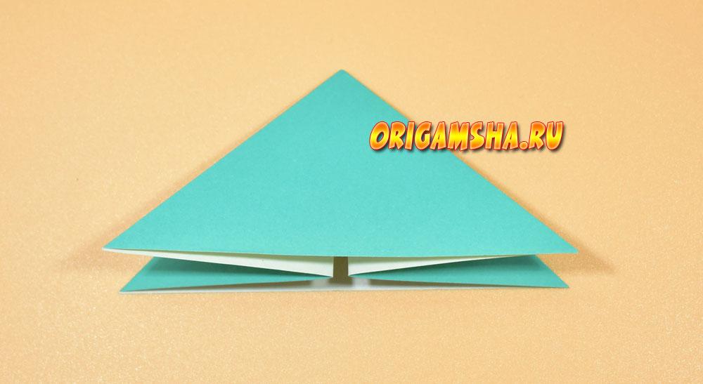 Базовые формы оригами: двойной треугольник