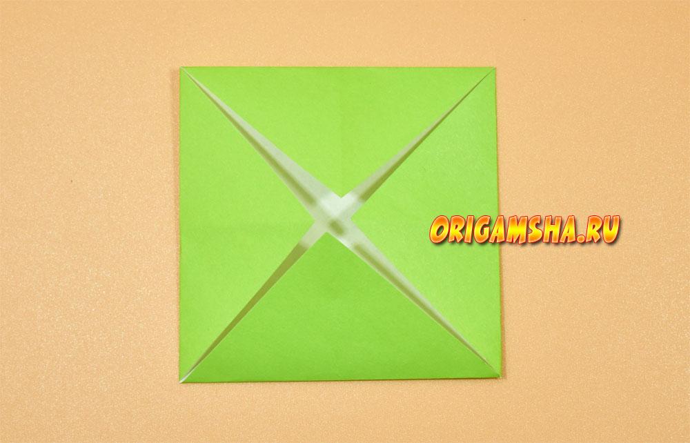 Базовые формы оригами блин