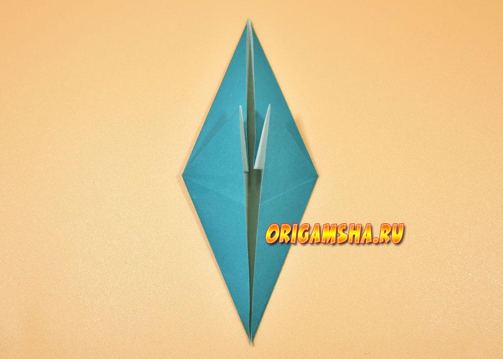 Базовые формы оригами рыба