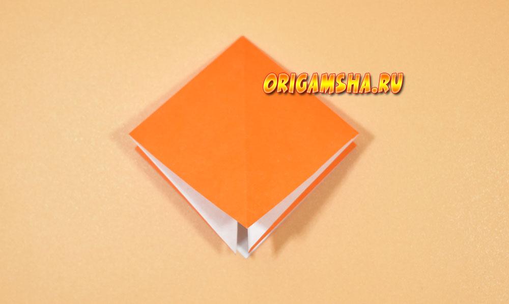 Базовые формы оригами двойной квадрат