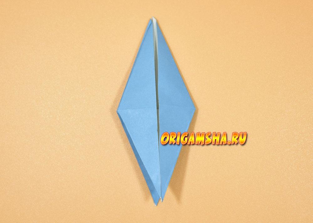 Базовые формы оригами птица