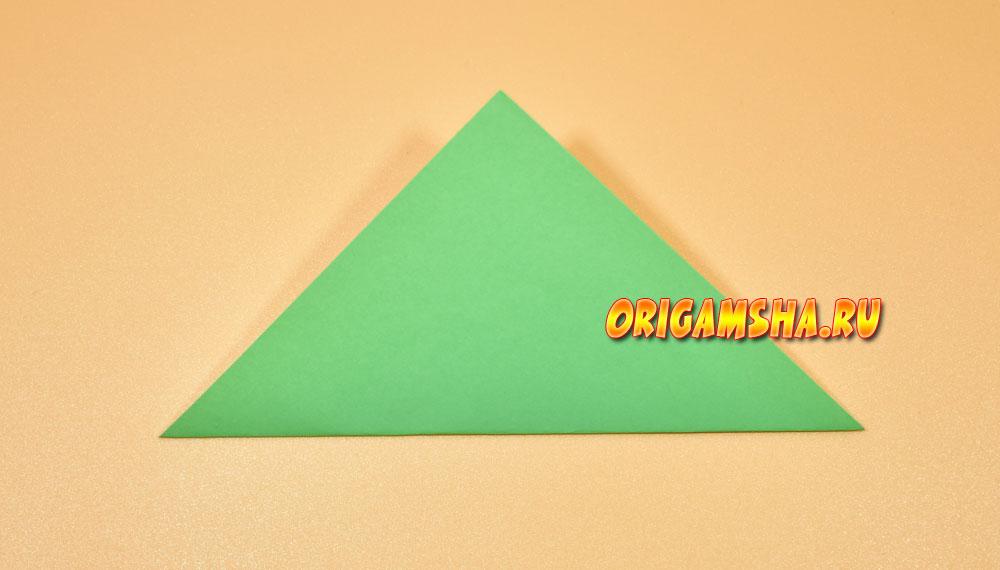 Базовые формы оригами треугольник