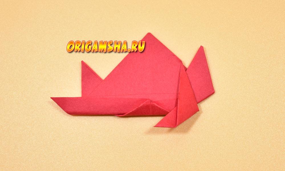 оригами краб