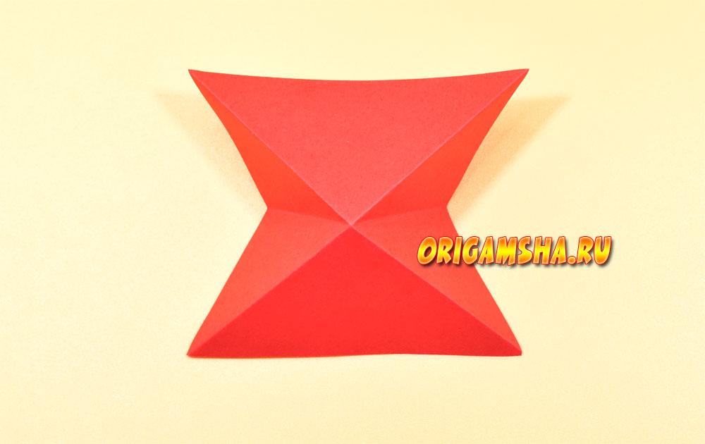 Божья коровка оригами