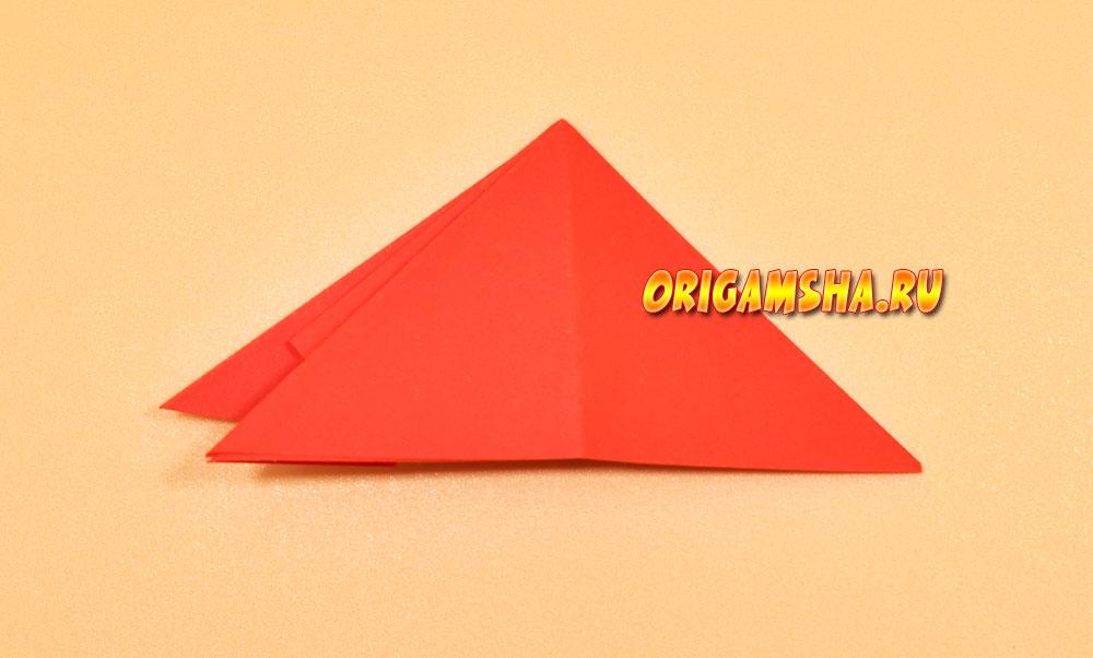 Лист каштана оригами
