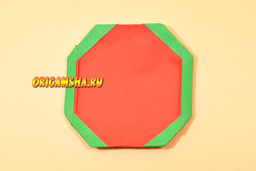 Оригами арбуз