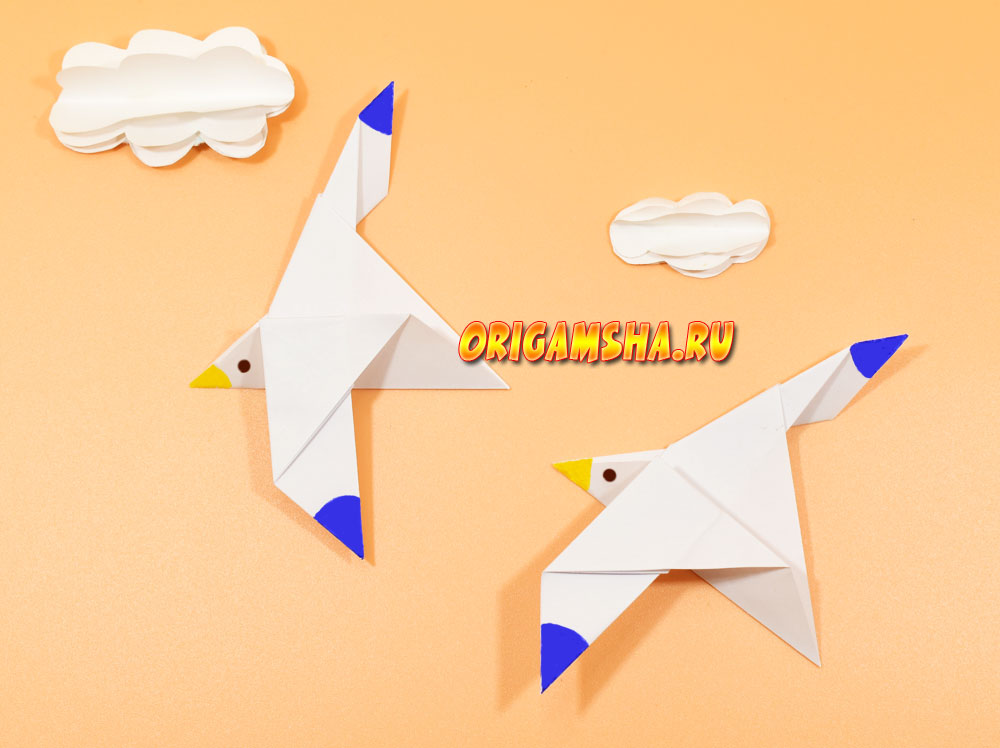 Оригами чайка
