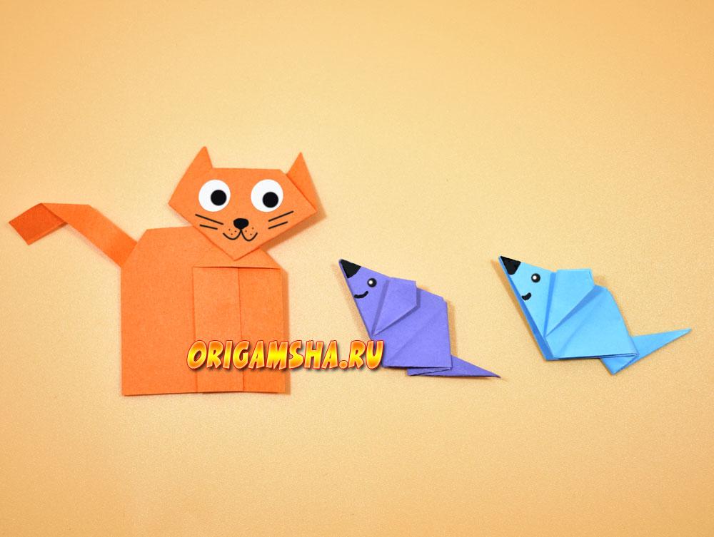 Оригами мышь