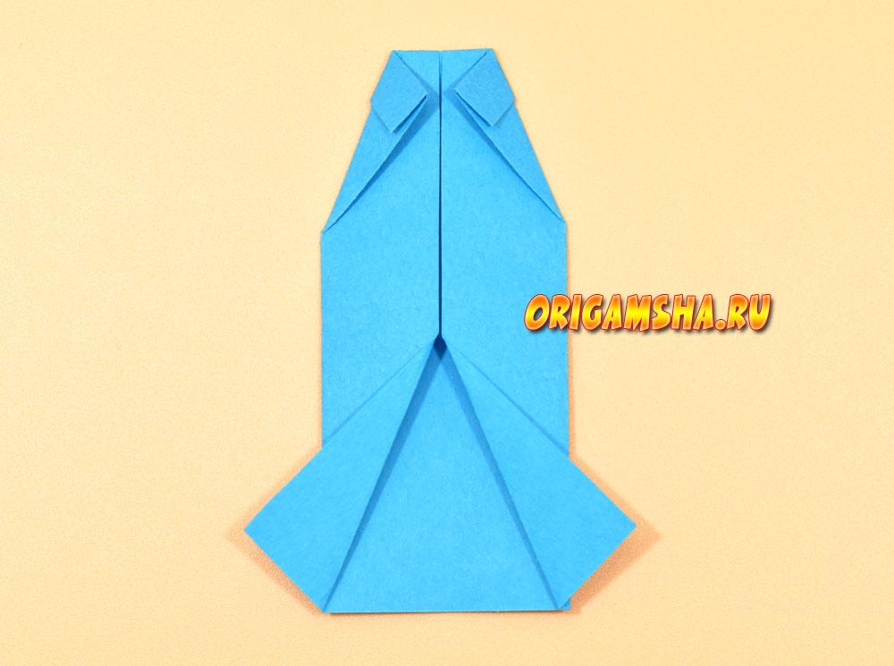 Оригами рубашка