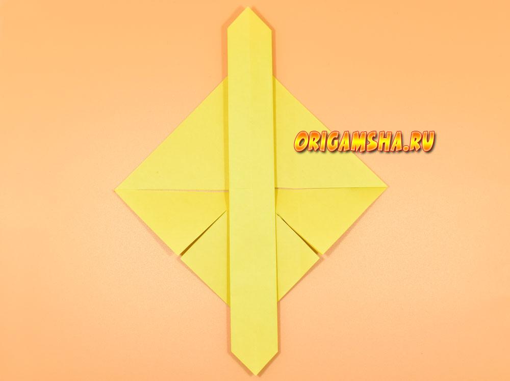 оригами стрекоза