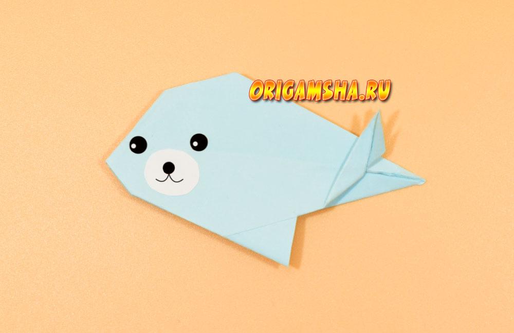 Оригами тюлень