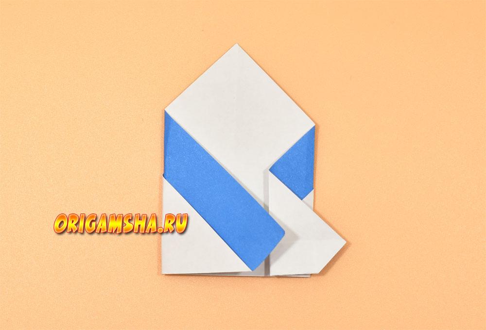 Пингвин оригами для детей