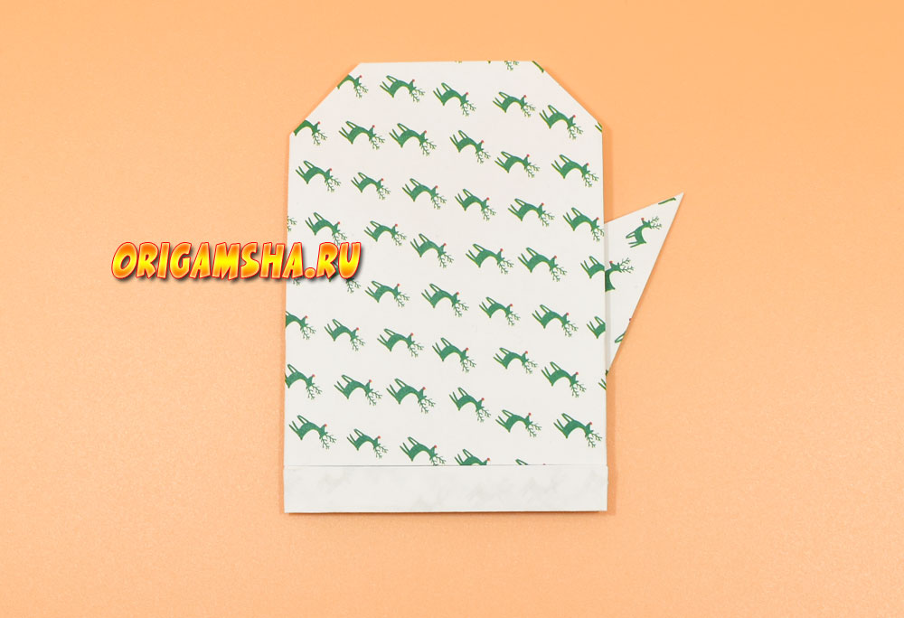 Оригами рукавичка