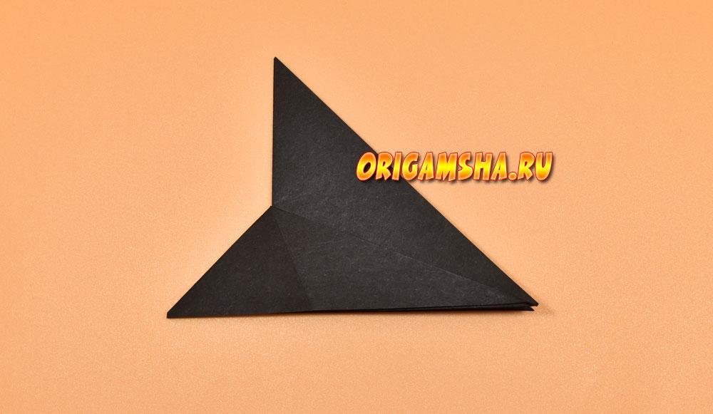 Черный кот оригами