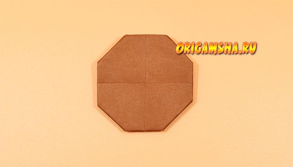 Оригами подсолнух