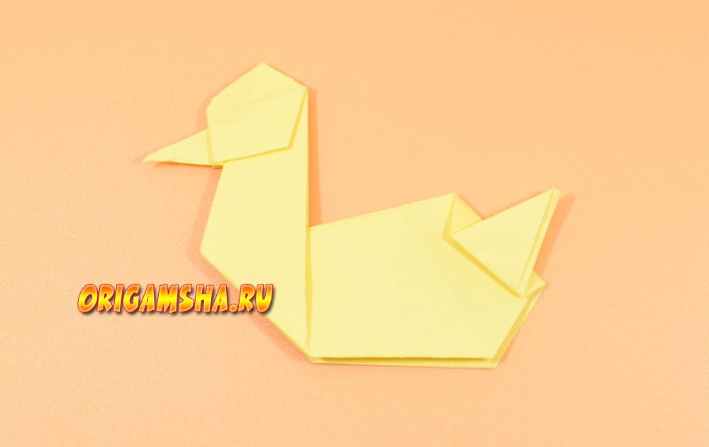 Оригами утка