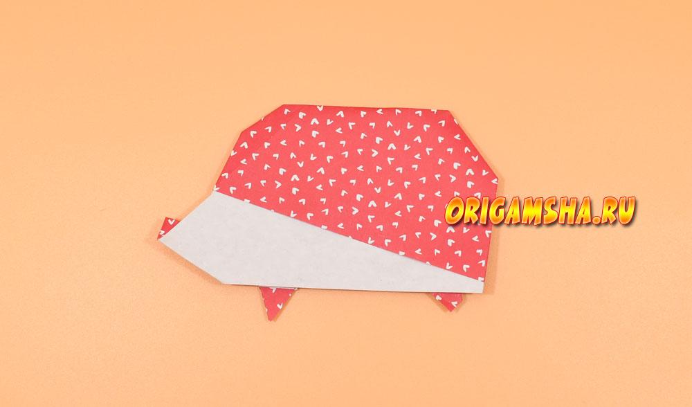 Оригами ежик