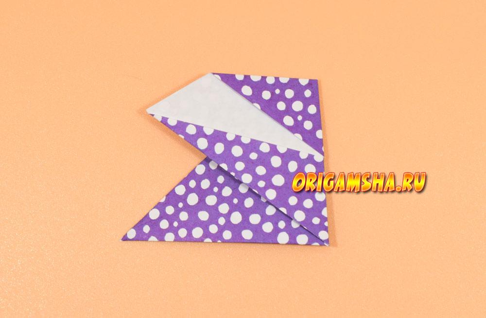 Оригами динозавр из бумаги