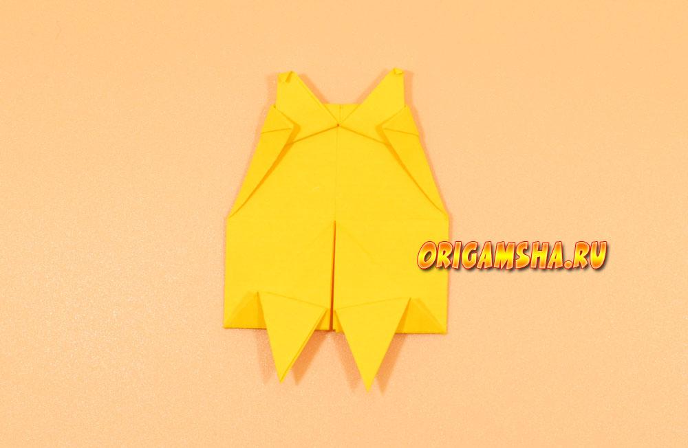Оригами еж