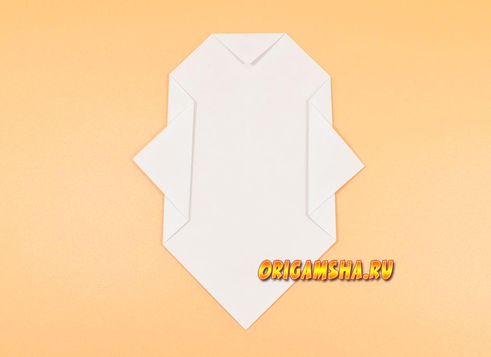 Оригами привидение