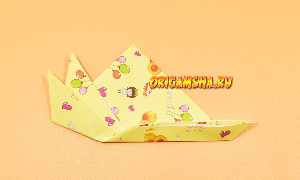 Оригами улитка